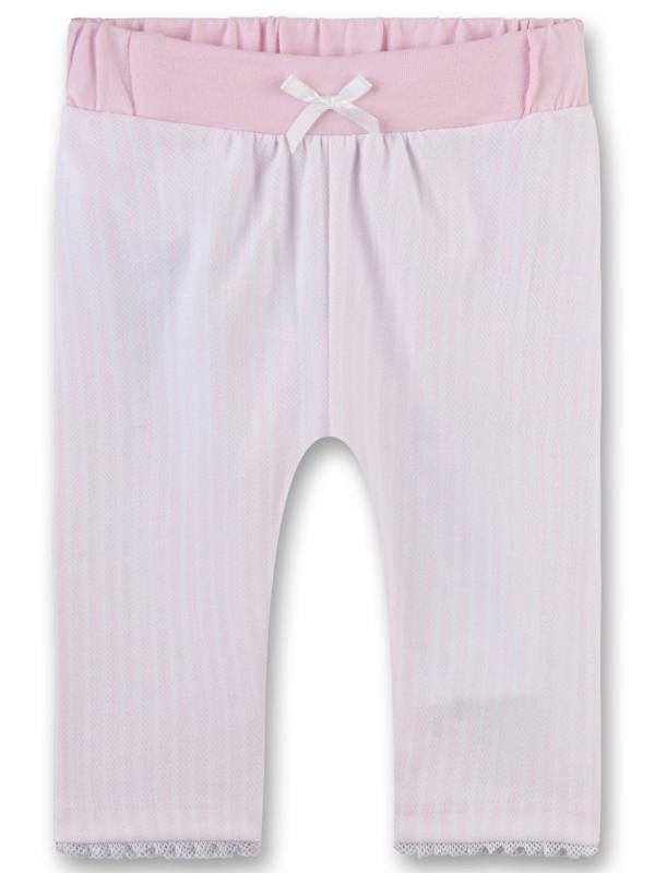 Pantaloni ocazii speciale bebeluşe, dungi roz