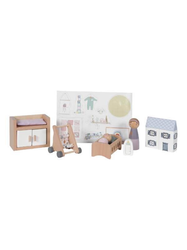 Accesorii lemn căsuţă păpuşi – Cameră bebe