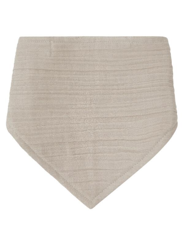 Bavetă triunghiulară muselină Bib Beige