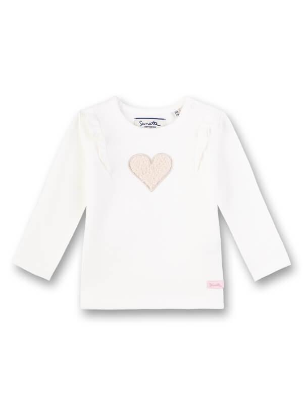 Bluză bebeluşe, aplicaţie cu inimioară