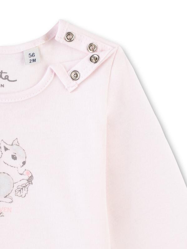 Bluză bebeluşe, imprimeu cu veveriţă