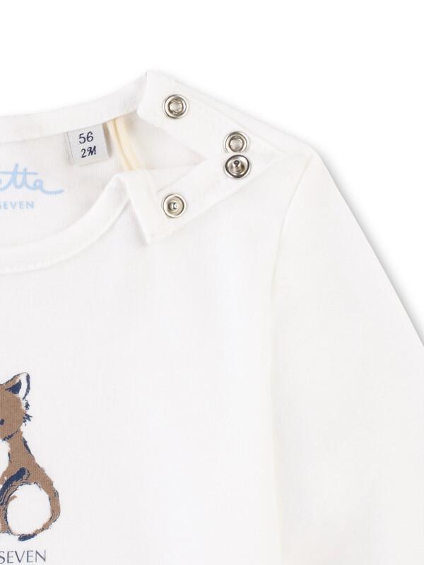 Bluză bumbac organic, imprimeu cu vulpe