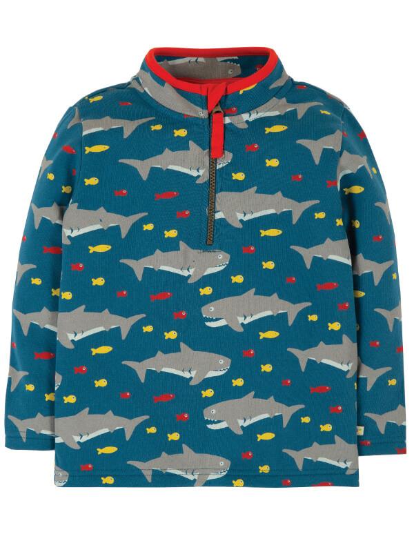 Bluză cu fermoar Happy Sharking Around