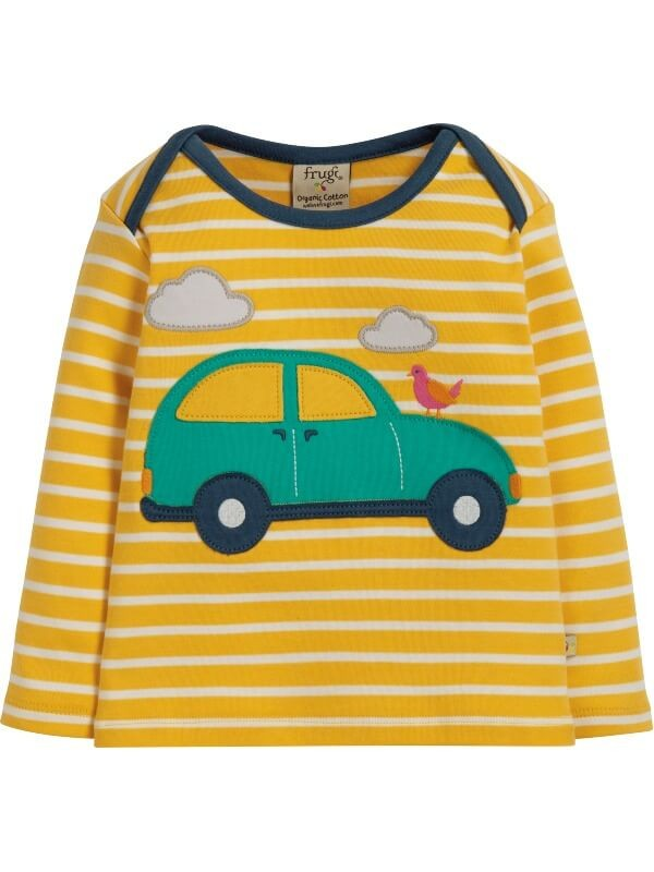 Bluză cu maşinuţă bebe Bobby