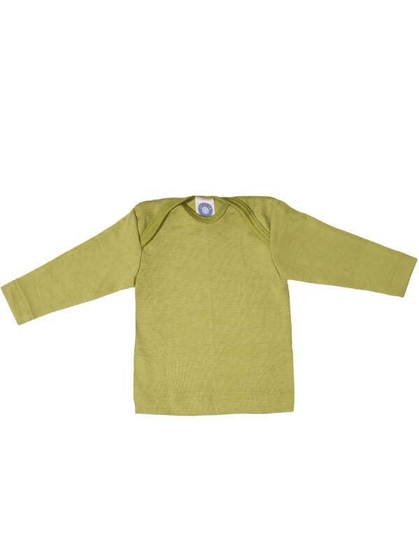 Bluză lână şi mătase, verde
