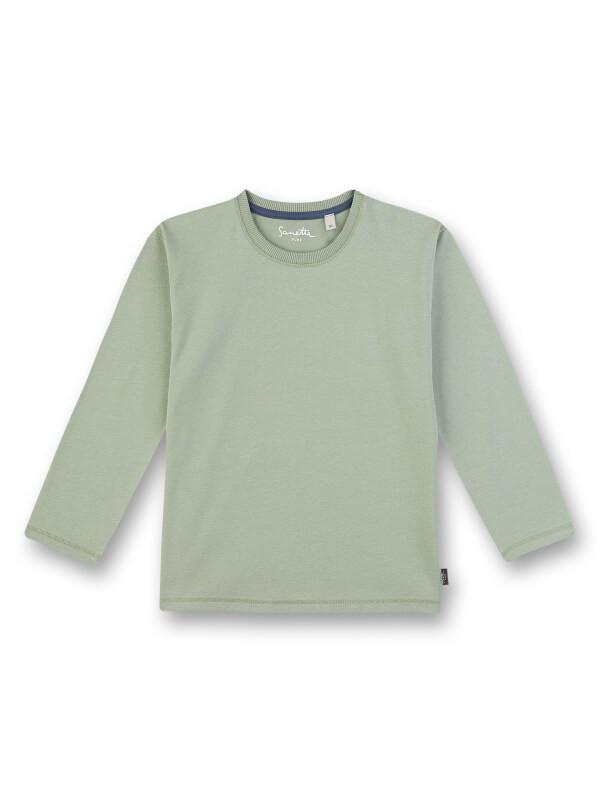 Bluză mânecă lungă băieţi Sanetta Pure, verde