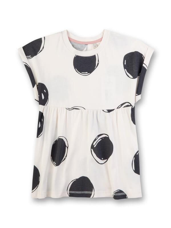 Bluză mânecă scurtă fete Sanetta Pure, alb