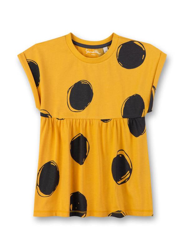 Bluză mânecă scurtă fete Sanetta Pure, galbenă