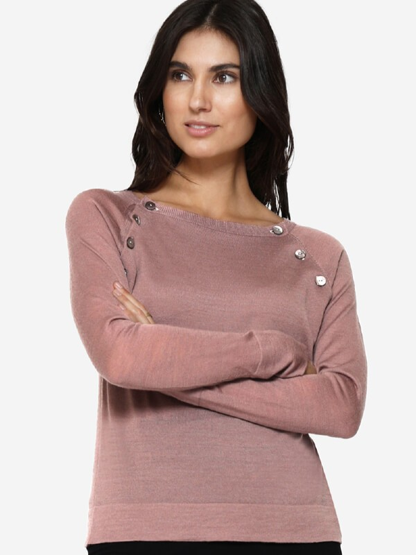 Bluză pentru alăptare Asta Roz, lână merino
