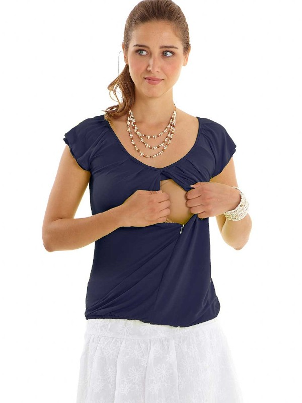 Bluză pentru alăptare, bleumarin