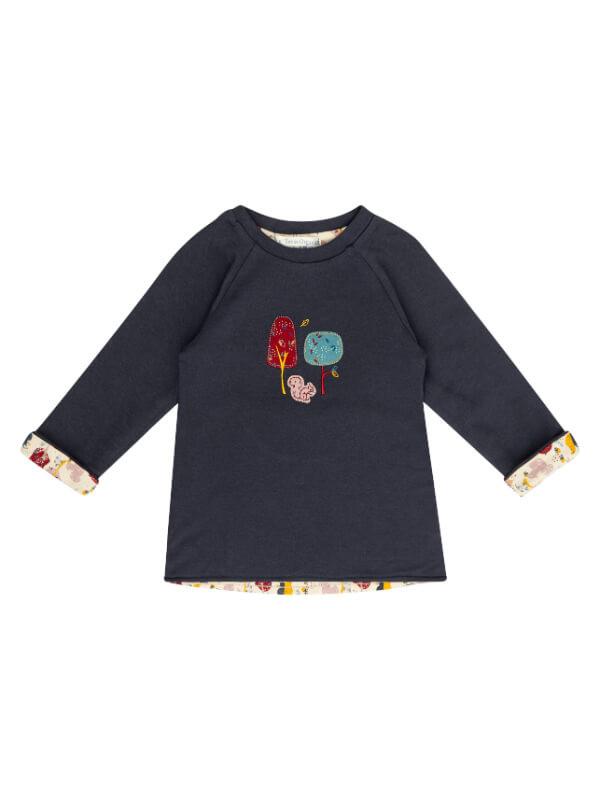 Bluză reversibilă fetiţe Dolores Navy Girls Forest