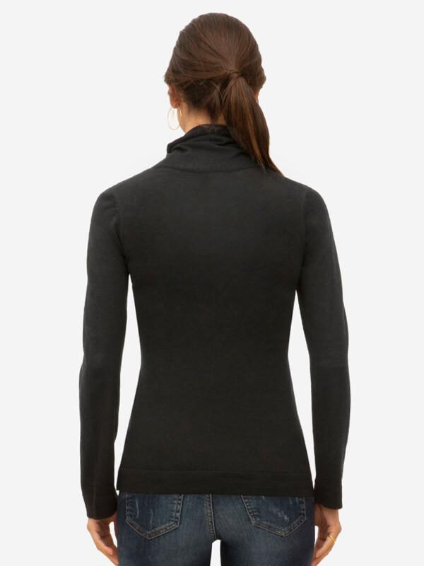 Bluză sarcină şi alăptare Ayodele Black, lână merino