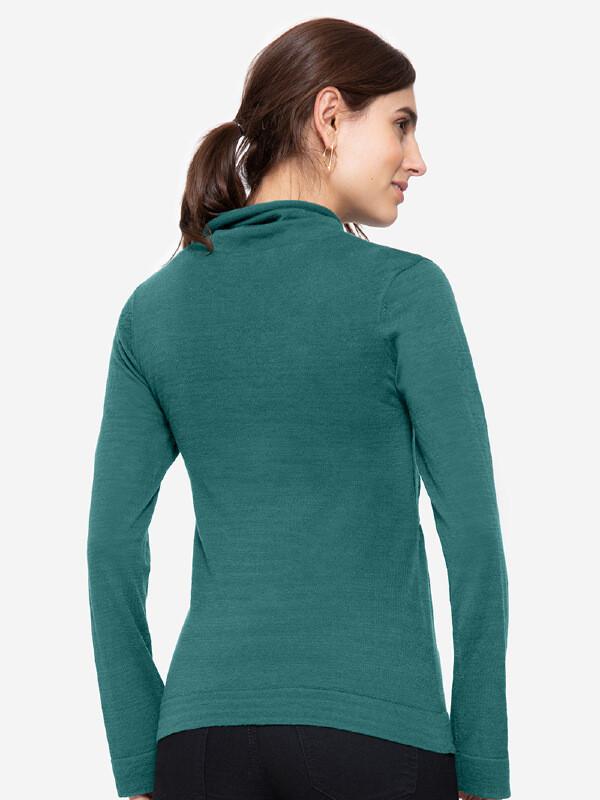 Bluză sarcină şi alăptare Ayodele verde, lână merino