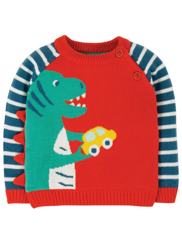 Bluză tricotată băieţi Wilfred Dino