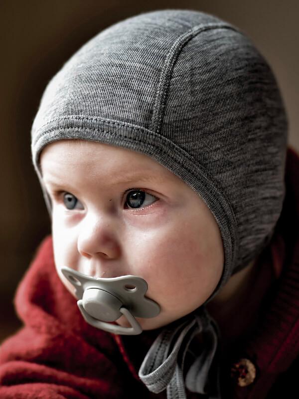 Căciuliţă bebe lână Grey Melange