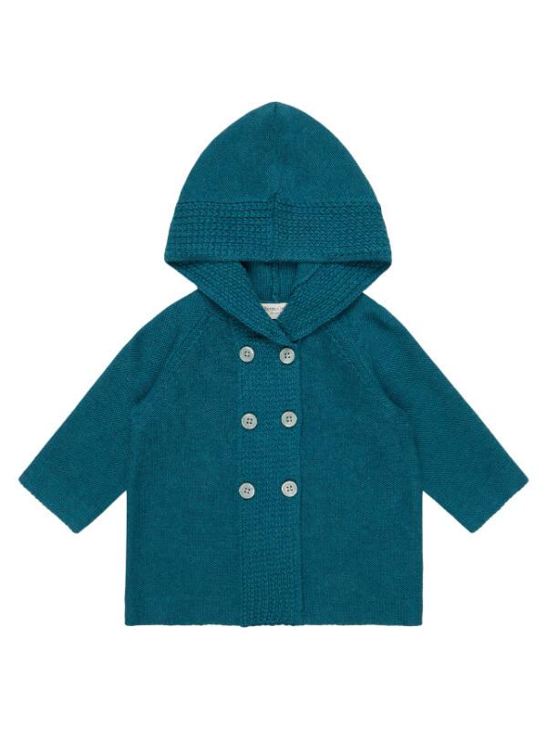 Cardigan tricotat bebeluşi Paul Petrol Blue
