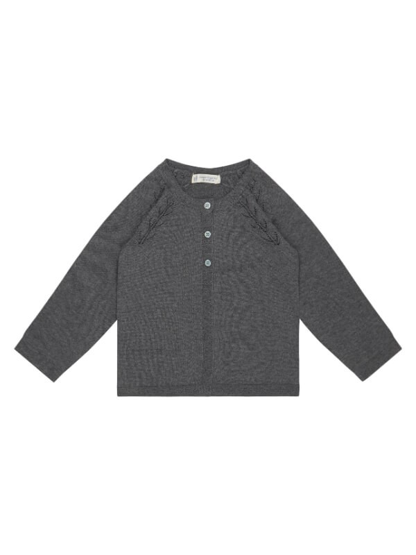 Cardigan tricotat fete Hurit Dark Grey
