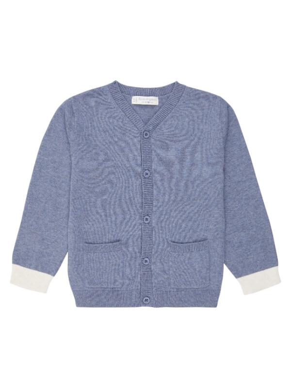 Cardigan tricotat Raul Denim Blue