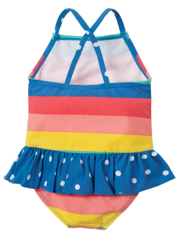 Costum de baie fetiţe UPF 50+ Bright Rainbow Stripe