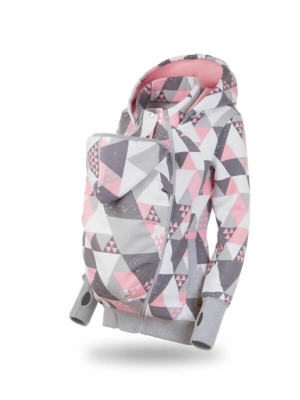 Hanorac 3în1 pentru sarcină şi Babywearing Pola Triangles