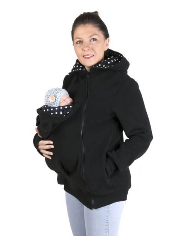 Hanorac babywearing Little Bear Black