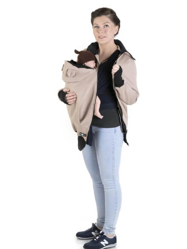 Hanorac pentru babywearing Maya Cappuccino