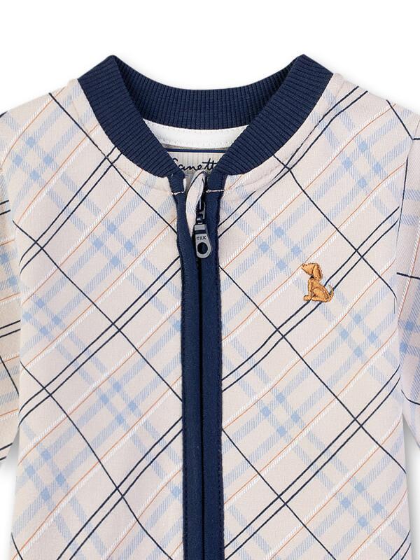 Jachetă cu fermoar, model romburi