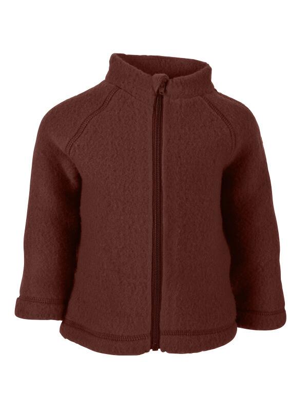 Jachetă cu mănuşi lână fleece Madder Brown