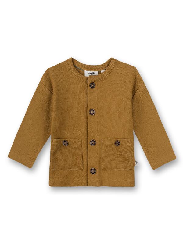 Jachetă tricotată unisex Mustard
