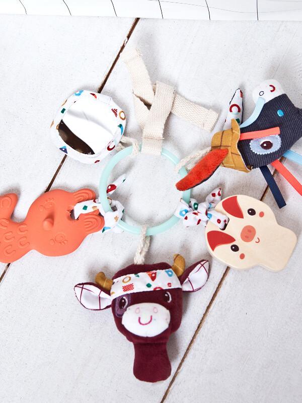 Jucărie bebe Chei senzoriale Farm
