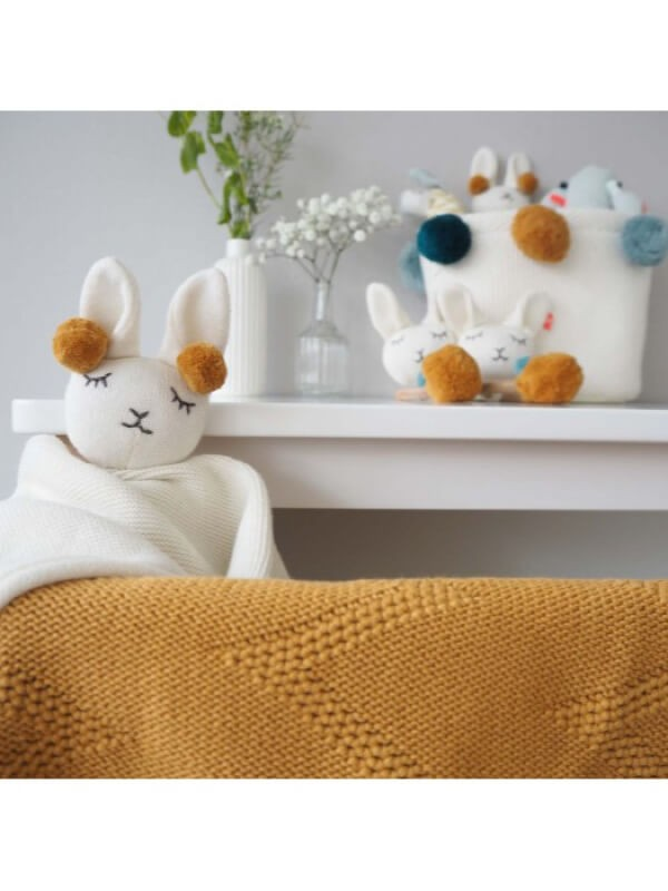 Jucărie Doudou Comforter Lama, bumbac organic