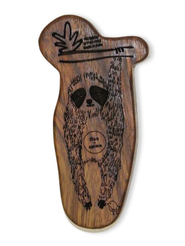 Jucărie lemn dentiție Eli The Sloth