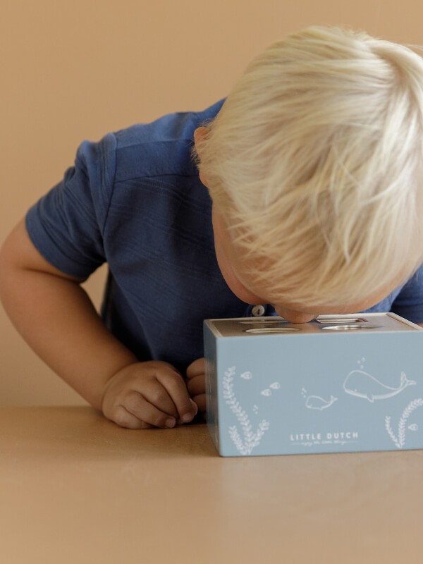 Jucărie lemn sortator forme Ocean Blue