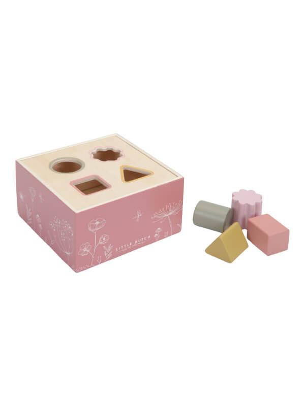 Jucărie lemn sortator forme Wild Flowers