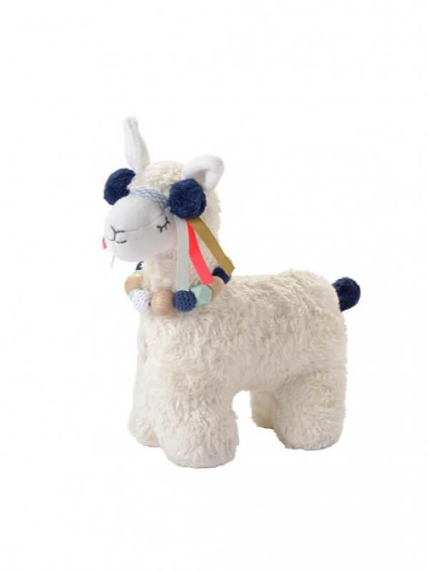 Jucărie muzicală Lama, bumbac organic