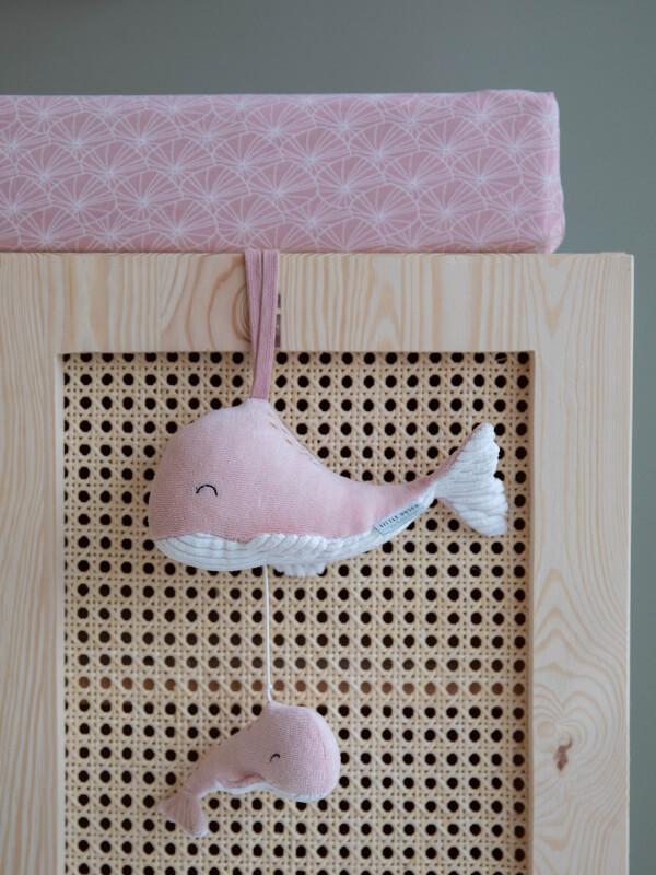 Jucărie muzicală plus Balene Ocean Pink