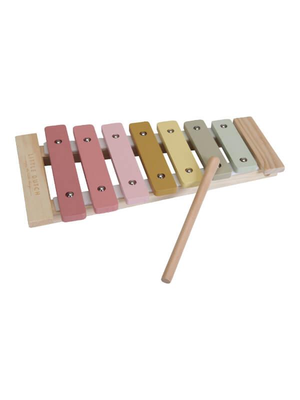 Jucărie xilofon din lemn Wild Flowers