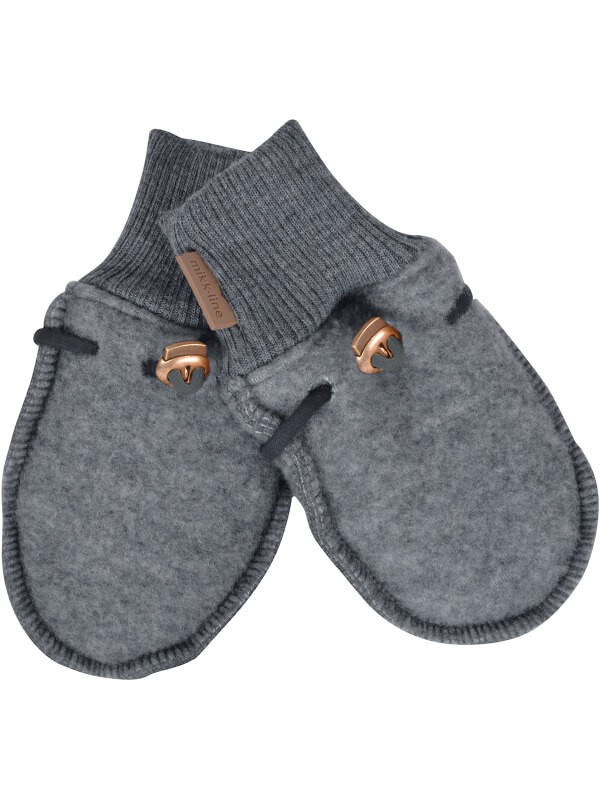 Mănuşi lână fleece Grey