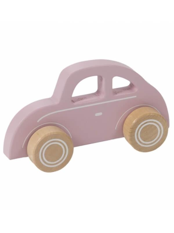 Maşinuţă lemn roz