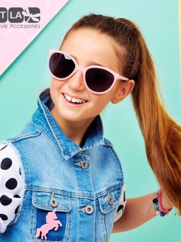 Ochelari soare copii Butterfly Pink 6-9 ani
