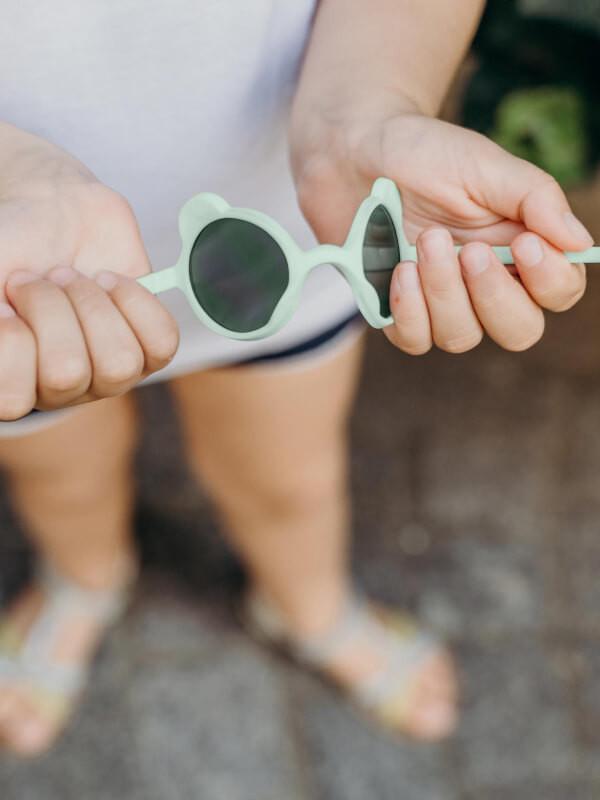 Ochelari soare copii Ourson Almond Green, 1-2 ani