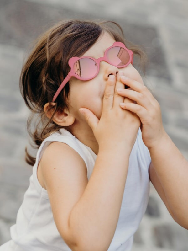Ochelari soare copii Ourson Antik Pink, 1-2 ani