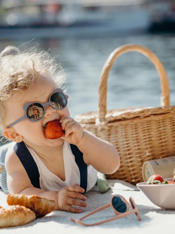 Ochelari soare copii Ourson Silver Blue, 1-2 ani