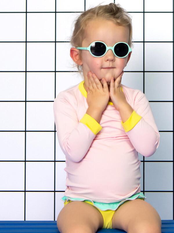 Ochelari soare copii Round Aqua, 2-4 ani