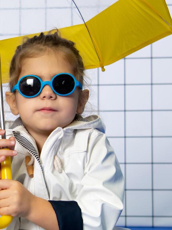 Ochelari soare copii Round Blue, 1-2 ani