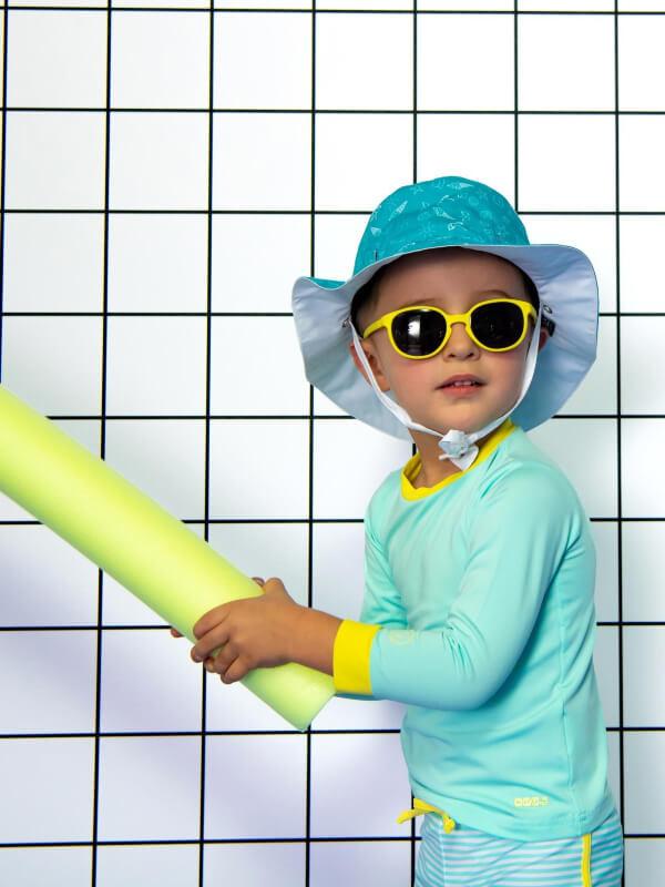 Ochelari soare copii Wazz Yellow, 1-2 ani
