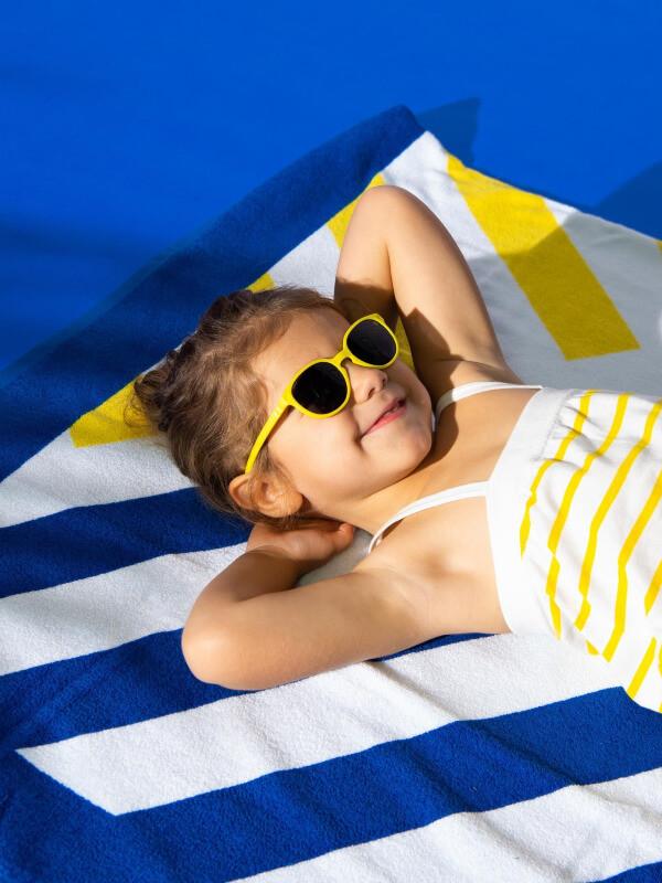 Ochelari soare copii Wazz Yellow, 2-4 ani