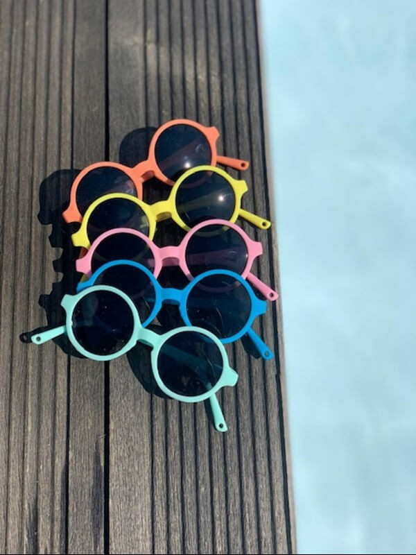 Ochelari soare copii Woam Pink, 4-6 ani