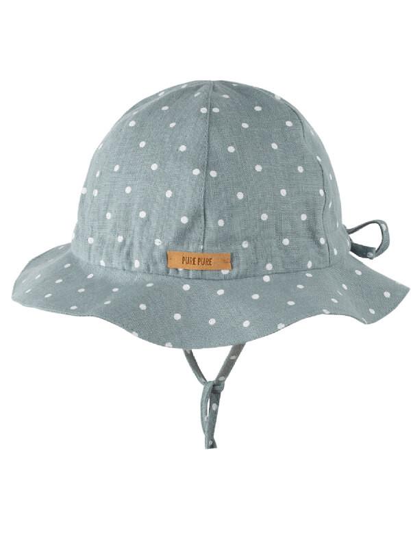 Pălărie ajustabilă din in, protecţie UV, Mint