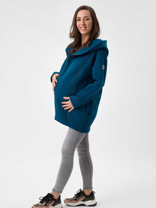 Palton sarcină şi babywearing Kaya Petrol